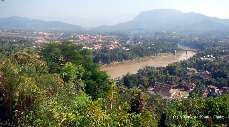 View of Luang Prabang from the top of Mount Phousi