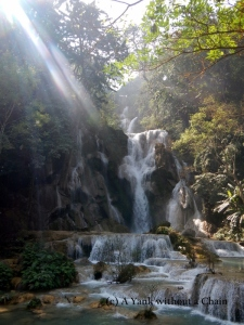 The Kuang Si waterfalls near Luang Prabang