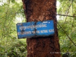 A sign on the walking trail at Yeak Laom lake