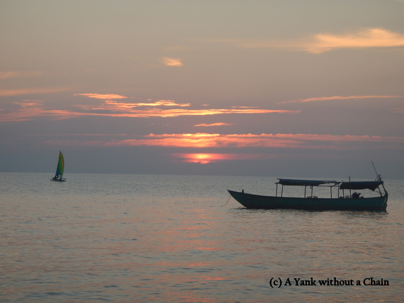 Sunset over the Gulf of Thailand on Christmas Day