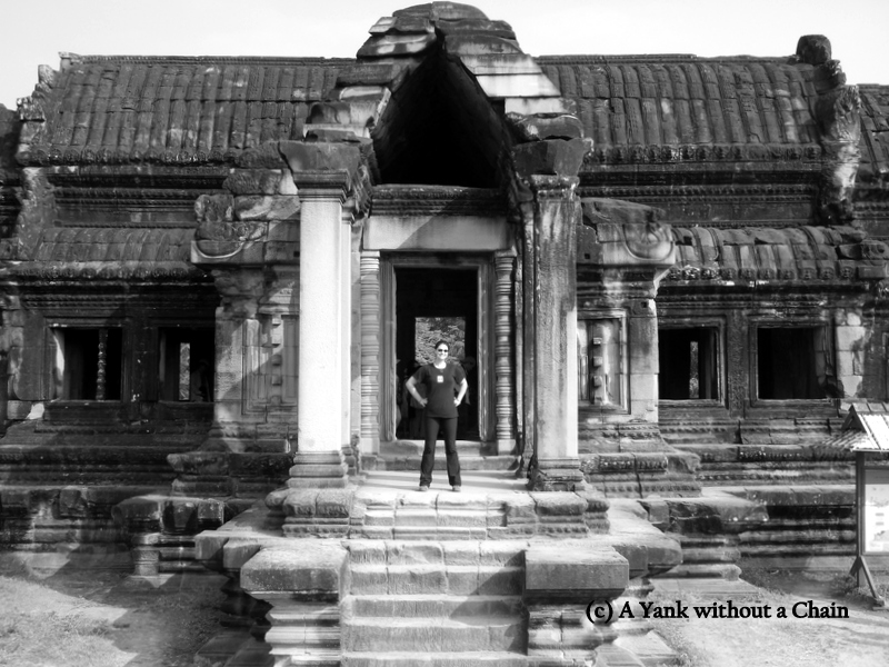 The Yank without a Chain in Angkor Wat