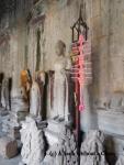 Buddha statues inside Angkor Wat