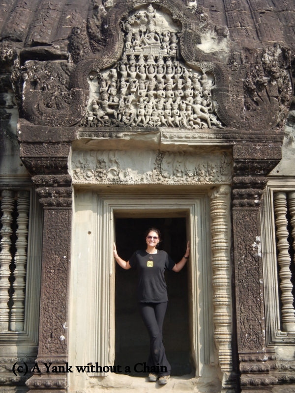 The Yank without a Chain at Angkor Wat