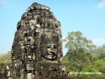 Some of the faces of the Bayon in Angkor Thom