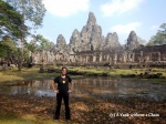 The Yank without a Chain standing in front of the Bayon in Angkor Thom