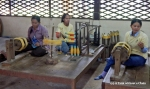 Women working at the Artisans Angkor silk farm