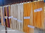 Samples of silk processed in different ways at the silk farm