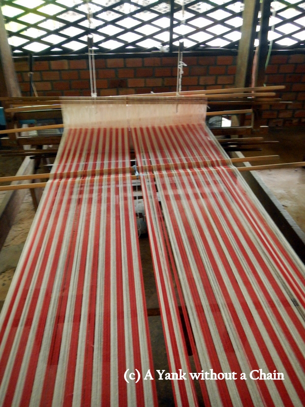 One of the looms at the Artisans Angkor silk farm