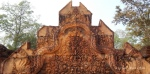 A detail of the carvings at Banteay Srei