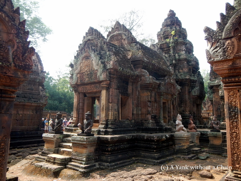 A portion of the ruins of Banteay Srei