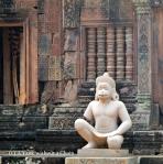 A monkey statue at Banteay Srei