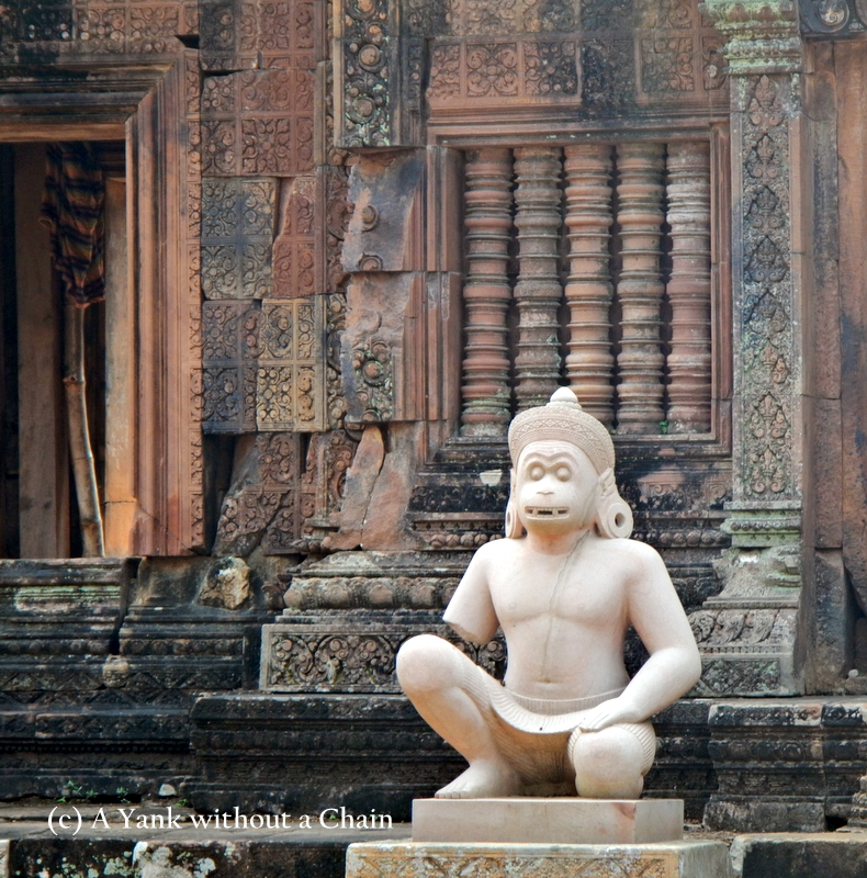 A monkey statue at Banteay Srei