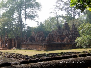 The ruins of Banteay Srei in the Angkor Archaeological Complex