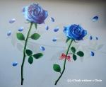 Chiang Mai Street Art Blue Roses