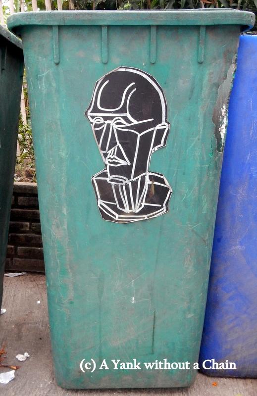 Chiang Mai Street Art Trash Can