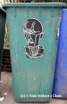 Chiang Mai Street Art Trash Can