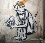 Chiang Mai Street Art Monkey