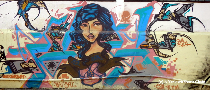 Chiang Mai Street Art Girl 2