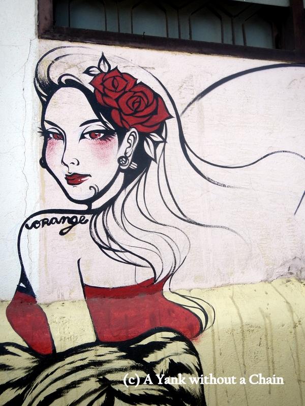 Chiang Mai Street Art Girl 3