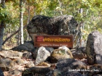 A sign at the Muang Pai stone forest