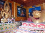 A reclining buddha at Wat Phra That Mae Yen (The Temple on the Hill)
