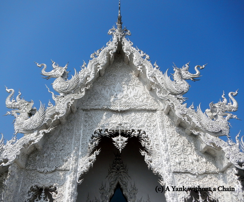 The entrance to the White Temple in Chiang Rai