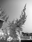 A dragon at the White Temple in Chiang Rai