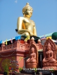 A giant golden Buddha at the Golden Triangle