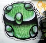 Chiang Mai Street Art Green