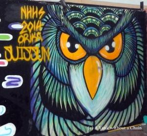 Chiang Mai Street Art Owl