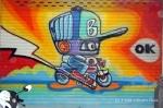 Chiang Mai Street Art Rainbow Bot