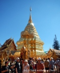 Tourists walking around Wat Phra That Doi Suthep