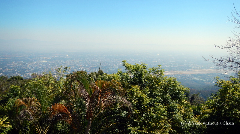 The view of Chiang Mai from Wat Phra That Doi Suthep