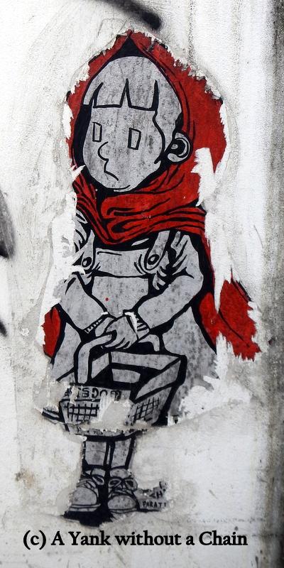 Chiang Mai Street Art Little Red Riding Hood