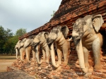 The elephants at Wat Sorasak