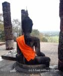 A Buddha statue at Wat Saphan Hin