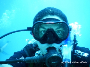 The Yank without a Chain scuba diving in Koh Tao, Thailand