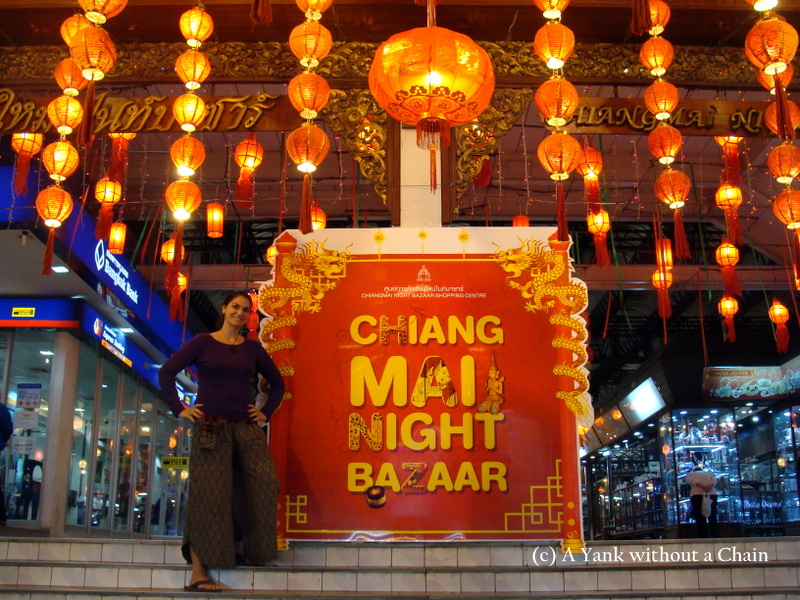 At the ever popular night bazaar in Chiang Mai