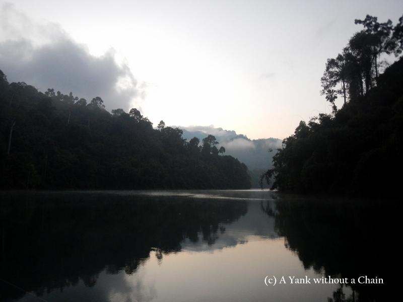 Dawn at Chiew Lan Lake
