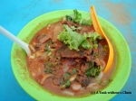 The famous Penang Laksa at Kompleks Makanan Medan Renong, which overlooks the Strait of Malacca