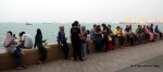 People in George Town, Penang waiting for sunset on the Strait of Malacca