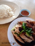 The very popular Hainan Chicken and Rice, served cold