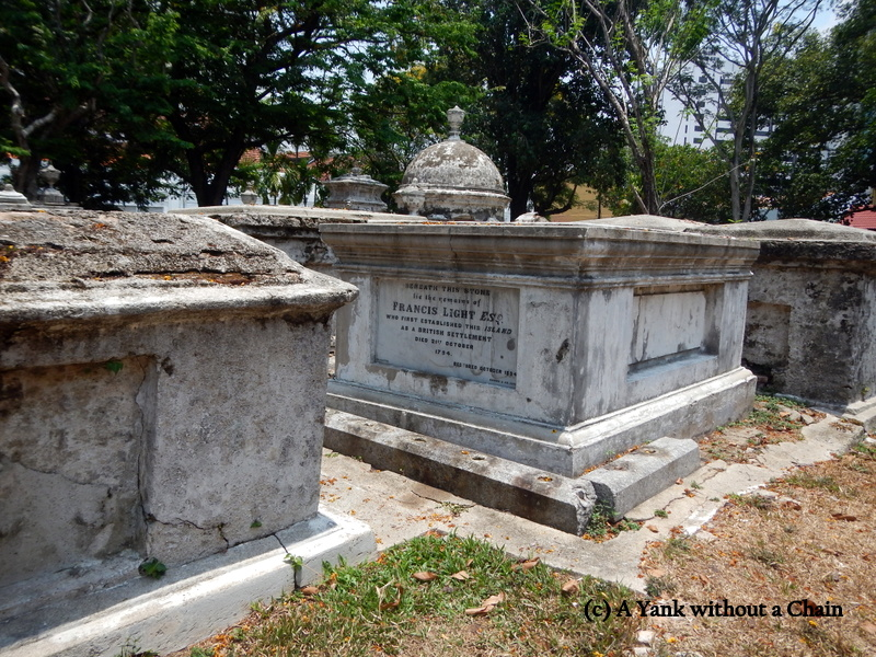 The grave site of Francis Light, founder of Penang