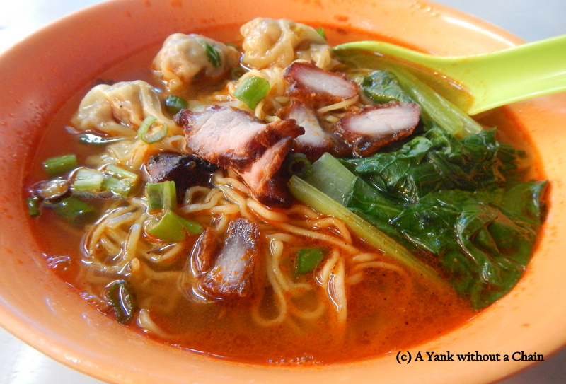 Amazing Wan Tan Mee at the Red Garden in George Town, Penang