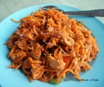Another safe option, Mee Goreng - fried noodles with tofu and chicken