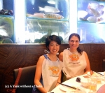 My friend Lucy and I at Jumbo Seafood in Singapore