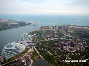 Overlooking the Gardens by the Bay from the top of the Marina Bay mall