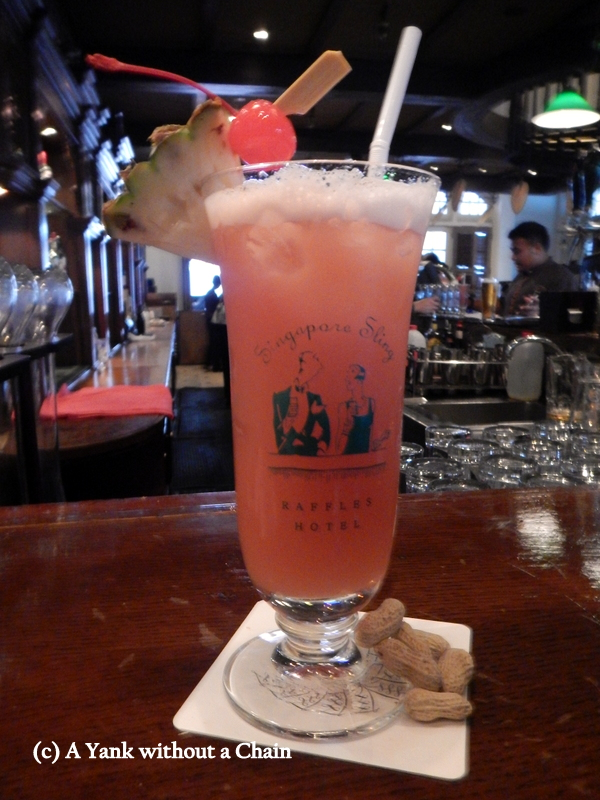 A (virgin) Singapore Sling at Raffles Hotel, where the drink was first created