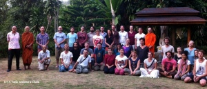 The group that attended the week-long meditation retreat at Dipabhavan in February 2014
