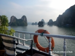The view from my tour boat in Ha Long Bay, Vietnam